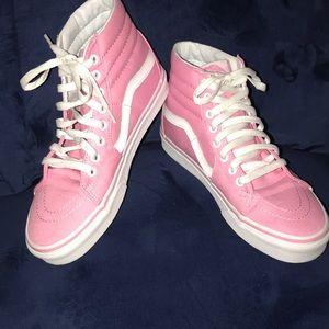 Hi Top Pink Vans.💕